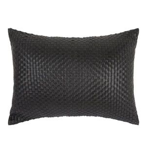 Luxe Cushion- weaved genuine leather